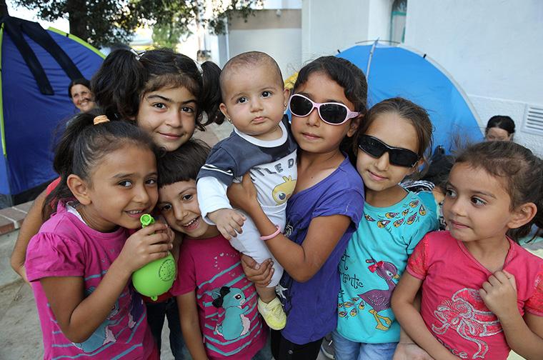 Foto: GRE_group of children, Credit: Arie Kievit, Cordaid
